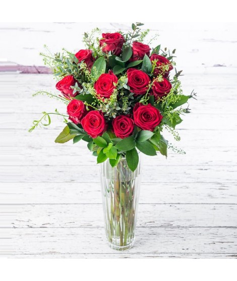 Rosas Premium XL con Jarrón