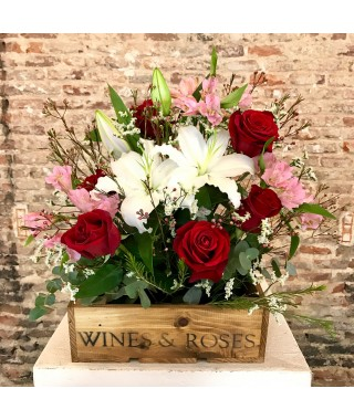 Flower Box 6 Roses