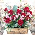 Flower Box 12 Rosas Rojas