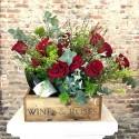 Flower Box Rosas Rojas & Champagne