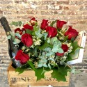 Flower Box Rosas, Chocolate & Cava